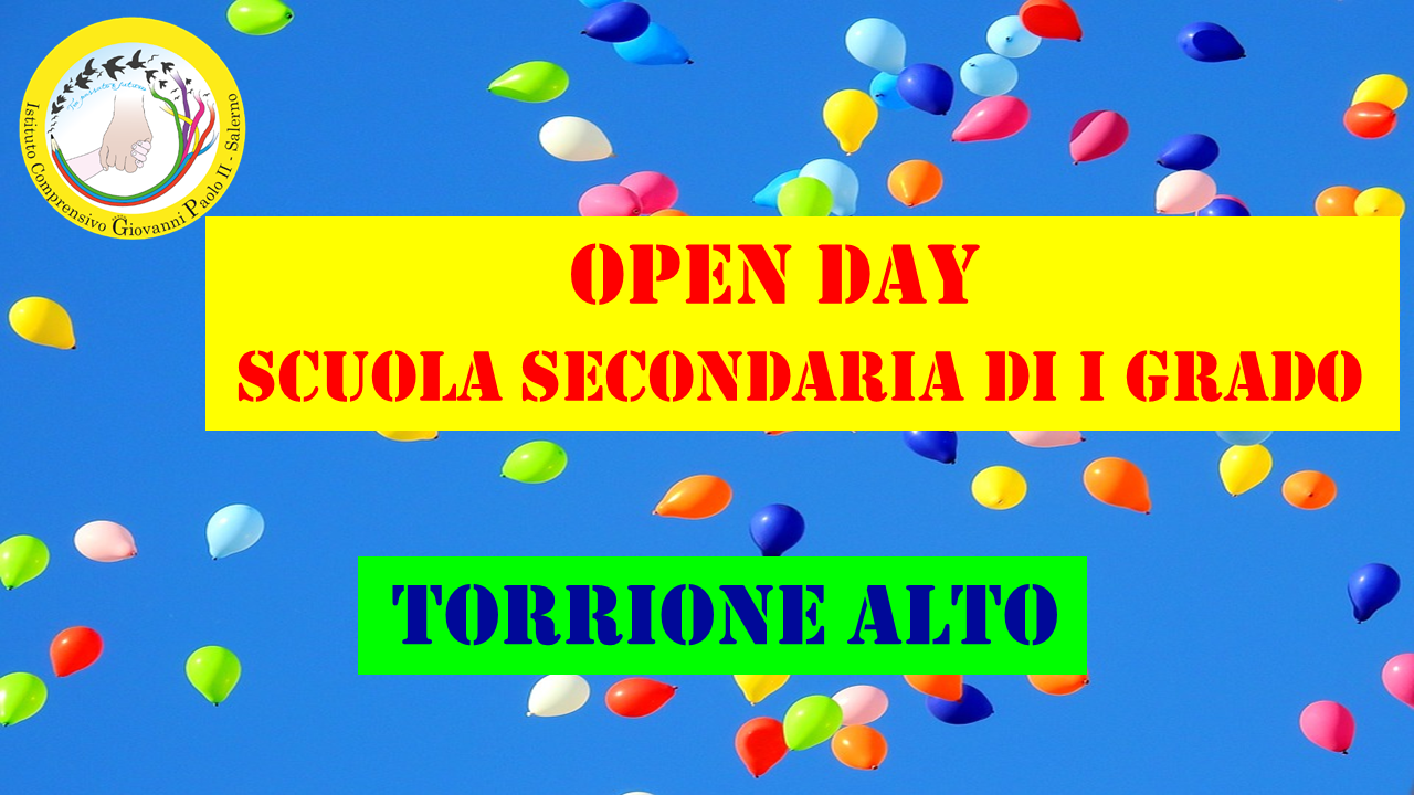 SLIDE OPEN DAY SECONDARIA pER SITO